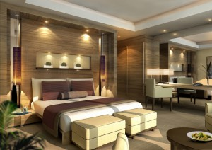 j w marriott marquis int-typical bedroom (c)emirates airline